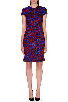 PAUL SMITH MAINLINE Leopard-print wool-blend dress