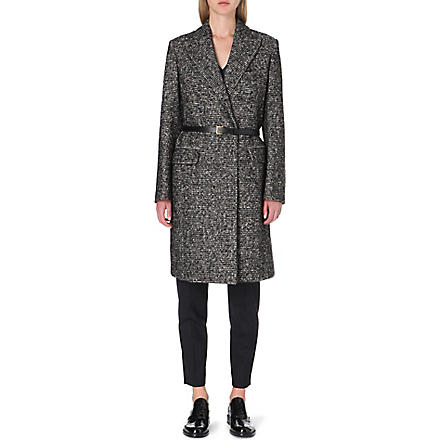 PAUL SMITH MAINLINE Belted tweed coat (Tweed