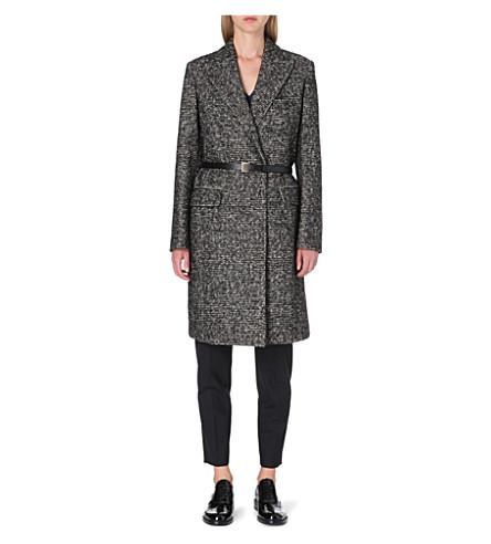 PAUL SMITH MAINLINE Belted tweed coat (Tweed