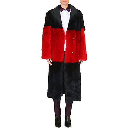 PAUL SMITH MAINLINE Reversible shearling coat (Multi