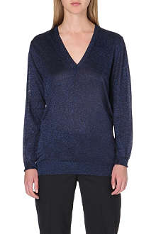 PAUL SMITH MAINLINE Lurex v-neck jumper