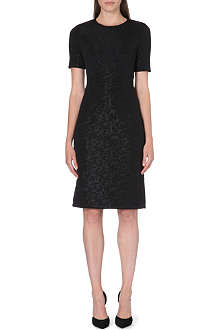 PAUL SMITH BLACK Short-sleeved jacquard shift dress