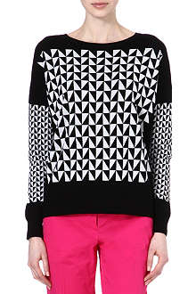 PAUL SMITH BLACK Knitted geometric pattern jumper