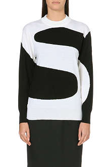PAUL SMITH BLACK Monochrome letter graphic jumper