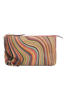 PAUL SMITH ACCESSORIES Swirl leather wristlet