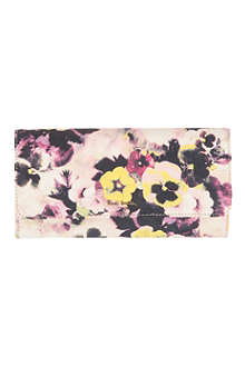 PAUL SMITH ACCESSORIES Floral leather wallet