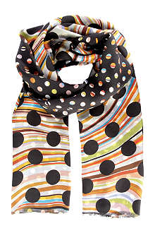PAUL SMITH ACCESSORIES Polka-dot printed scarf