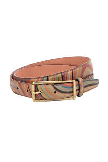 PAUL SMITH ACCESSORIES Leather swirl belt
