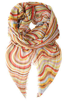 PAUL SMITH ACCESSORIES Swirl-print scarf