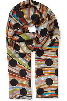 PAUL SMITH ACCESSORIES Reversible patterned scarf