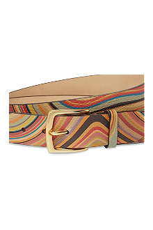 PAUL SMITH ACCESSORIES Psychedelic swirl belt