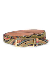 PAUL SMITH ACCESSORIES Swirl-print belt