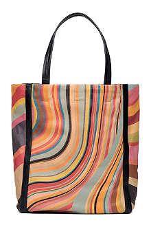 PAUL SMITH ACCESSORIES Swirl leather tote