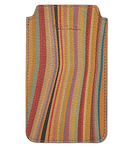 PAUL SMITH ACCESSORIES Swirl leather phone case (Swirl
