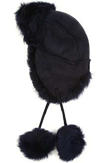 PAUL SMITH ACCESSORIES Reversible sheepskin snow hat