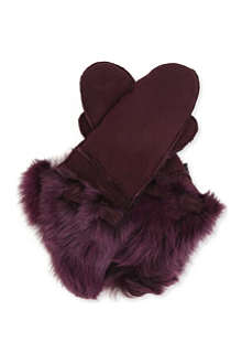 PAUL SMITH ACCESSORIES Cuffed sheepskin mittens