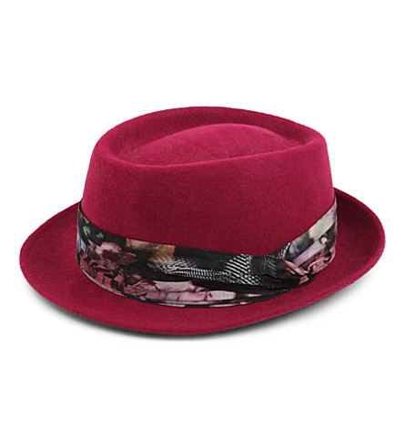 PAUL SMITH ACCESSORIES Betty wool trilby hat (Pink