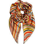 PAUL SMITH ACCESSORIES Silk swirl-print square scarf