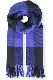 PAUL SMITH ACCESSORIES Checked wool scarf