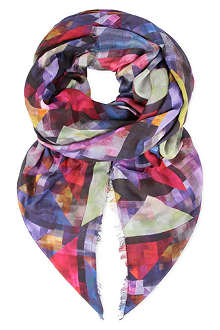 PAUL SMITH ACCESSORIES Block square scarf