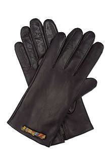 PAUL SMITH ACCESSORIES Leather split swirl bow gloves