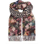 PAUL SMITH ACCESSORIES Floral check scarf