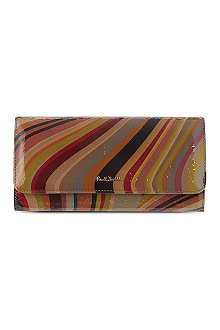 PAUL SMITH ACCESSORIES Trifold patent swirl wallet