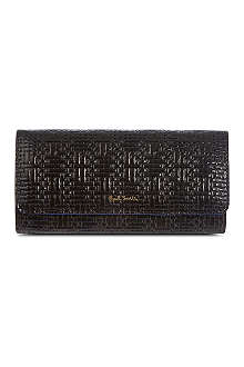 PAUL SMITH ACCESSORIES Woven-effect trifold wallet
