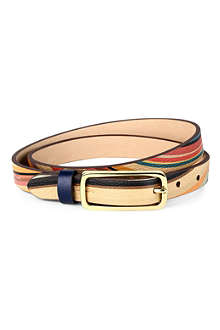 PAUL SMITH ACCESSORIES Swirl printed leather belt