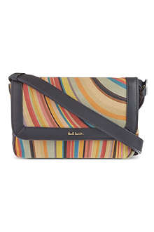 PAUL SMITH ACCESSORIES Swirl leather cross-body bag