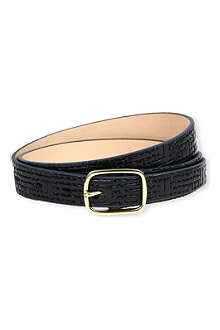 PAUL SMITH ACCESSORIES Woven patent waist belt