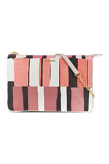 PAUL SMITH ACCESSORIES Large square print chain pouch