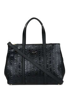PAUL SMITH ACCESSORIES Woven leather tote bag