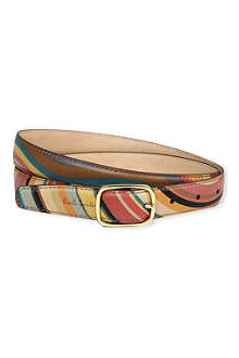 PAUL SMITH ACCESSORIES Swirl print leather belt