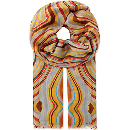 PAUL SMITH ACCESSORIES Modal swirl scarf (Swirl
