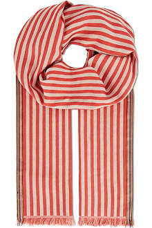 PAUL SMITH ACCESSORIES Striped cotton scarf