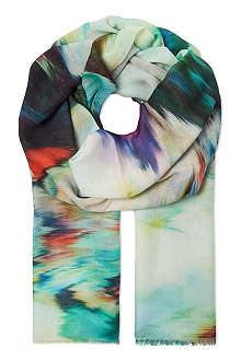 PAUL SMITH ACCESSORIES Warped floral scarf