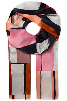 PAUL SMITH ACCESSORIES Large square print silk scarf