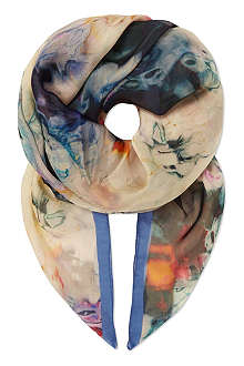 PAUL SMITH ACCESSORIES Floral silk pashmina