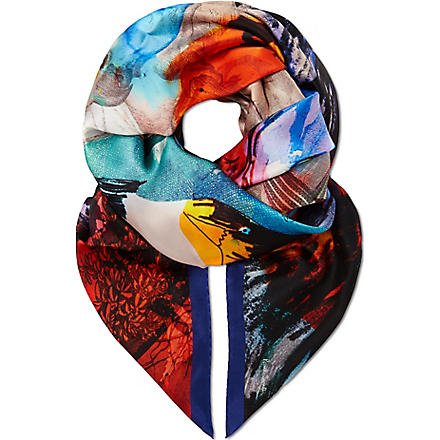PAUL SMITH ACCESSORIES Lobster silk scarf (Multi