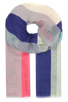 PAUL SMITH ACCESSORIES Neon colour block linen scarf