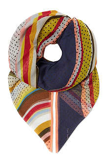PAUL SMITH ACCESSORIES Large swirl scarf
