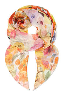 PAUL SMITH ACCESSORIES Floral silk scarf