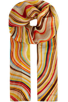 PAUL SMITH ACCESSORIES Swirl stripes scarf