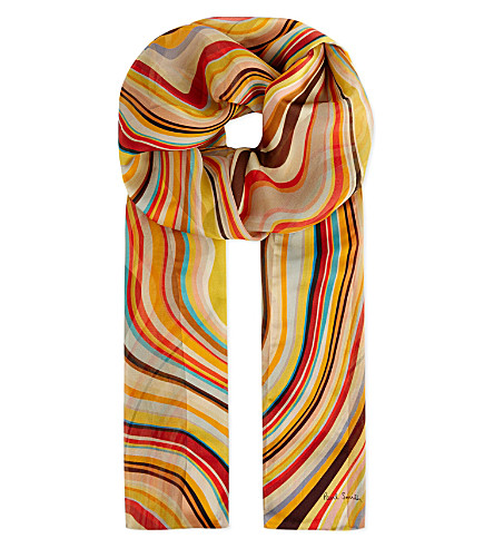 PAUL SMITH ACCESSORIES Swirl stripes scarf (Multi