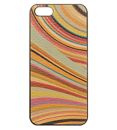 PAUL SMITH ACCESSORIES Swirl iPhone 5 case (Multi