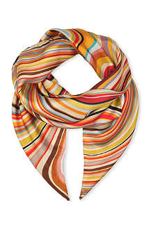 PAUL SMITH ACCESSORIES Swirl silk scarf