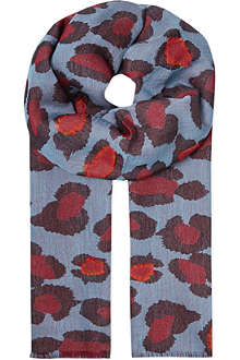 PAUL SMITH ACCESSORIES Animal print scarf