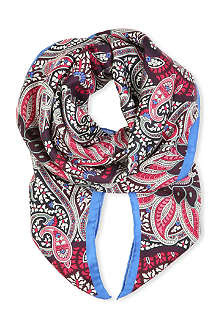 PAUL SMITH ACCESSORIES Paisley print silk scarf