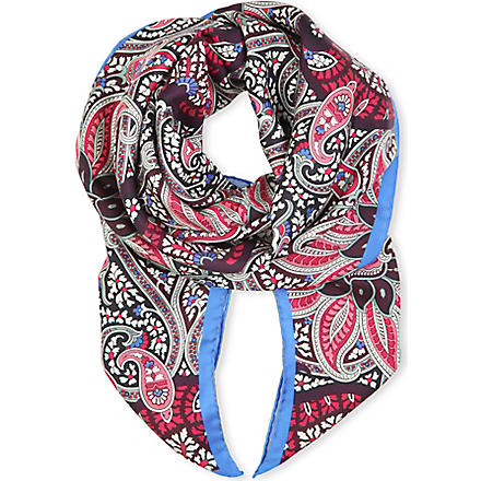 PAUL SMITH ACCESSORIES Paisley print silk scarf (Pink